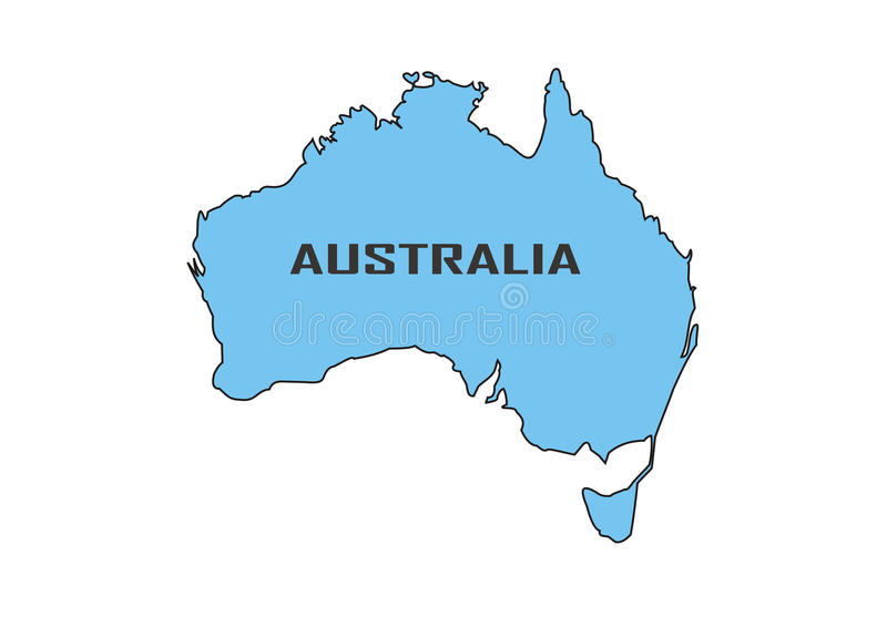 australië stock illustratie