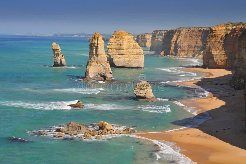 Australië, Grote Oceaanweg, de Twaalf Apostelen stock foto's