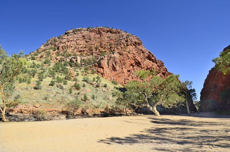 Australië, Noordelijk Grondgebied, Binnenlandlandschap stock afbeeldingen