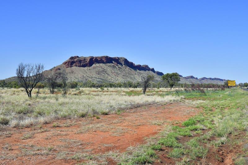 Australië, Noordelijk Grondgebied, de Waaier van McDonnell stock foto's