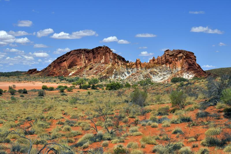 Australië, NT, Regenboogvallei stock fotografie