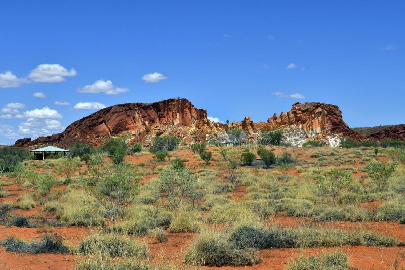 Australië, NT, Regenboogvallei stock afbeelding