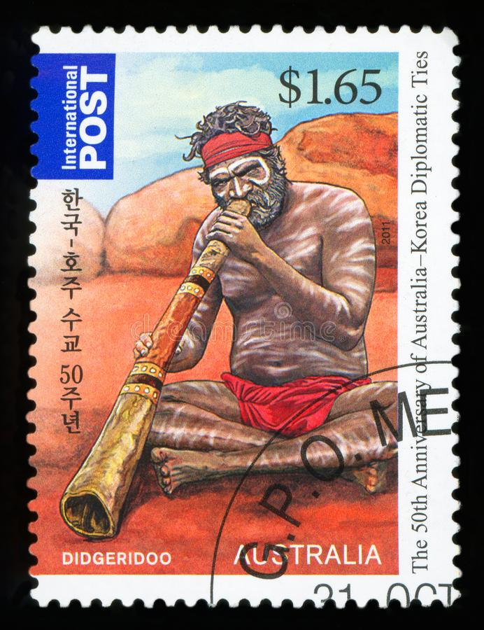 AUSTRALIË - postzegel royalty-vrije stock fotografie