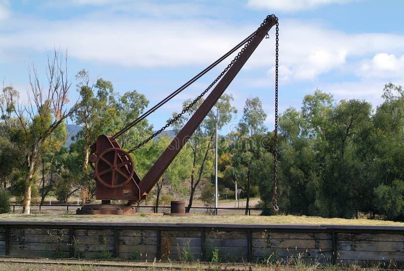 Australië, Spoorweg, Kraan stock foto