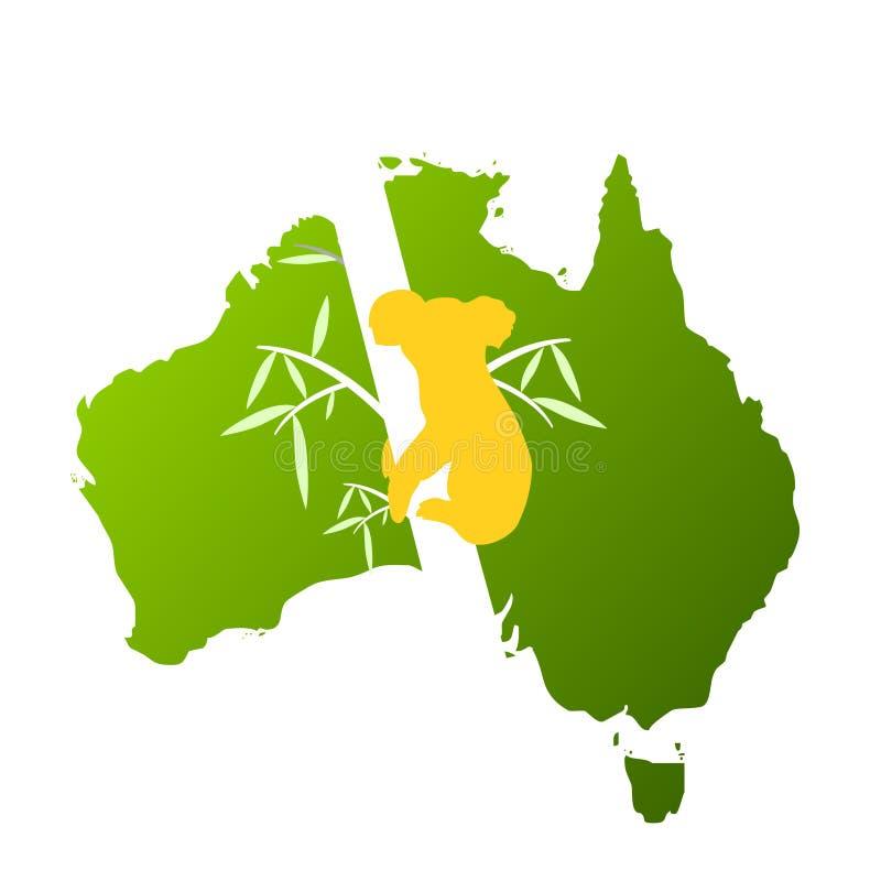 Australië van het bezoek ontwerp met koala