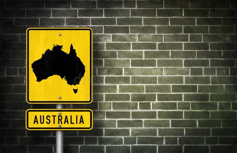 Australië - verkeersteken royalty-vrije illustratie