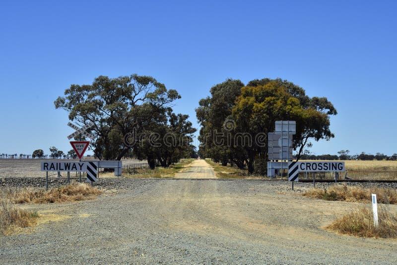 Australië, Victoria, spoorweg royalty-vrije stock foto