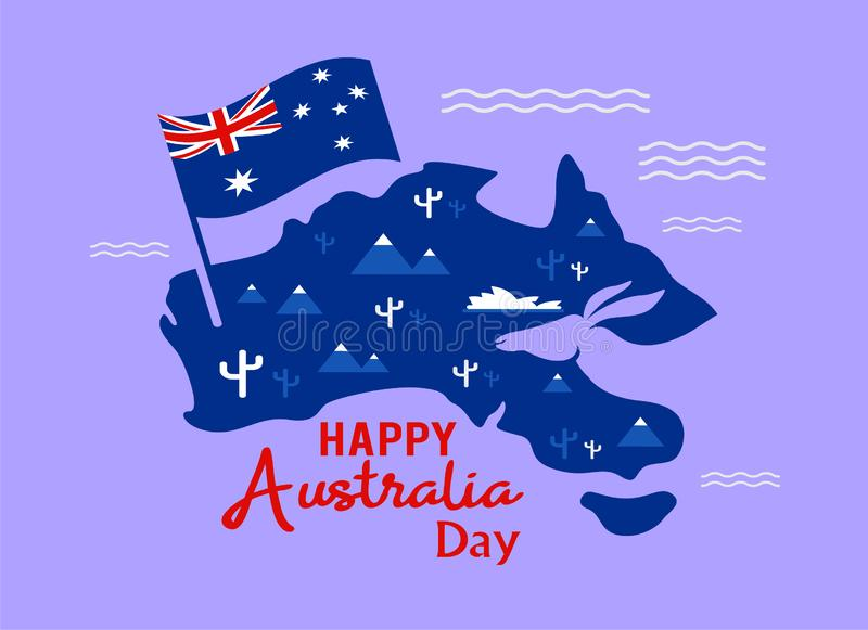 Happy Australia Day, January 26 celebrate banner or holiday greetings or Postcard or Poster or Flyer template. Vector Illustration vector illustration