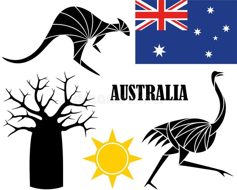 australia ilustración del vector