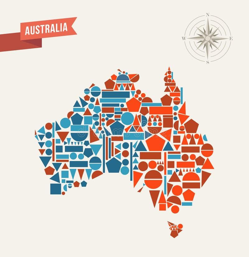 Australia abstract map stock photo