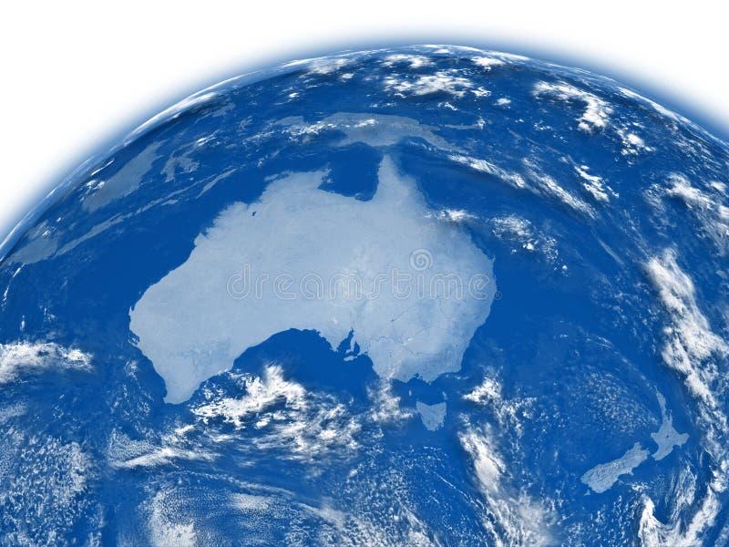Download Australia on blue Earth stock illustration. Image of world - 30341441