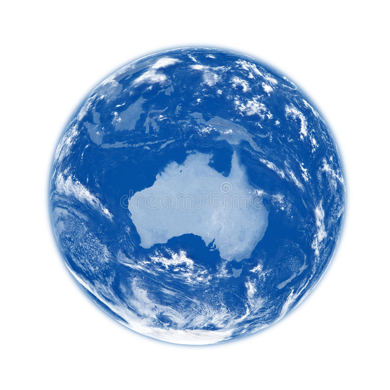 Download Australia On Blue Earth Royalty Free Stock Images - Image: 30341449
