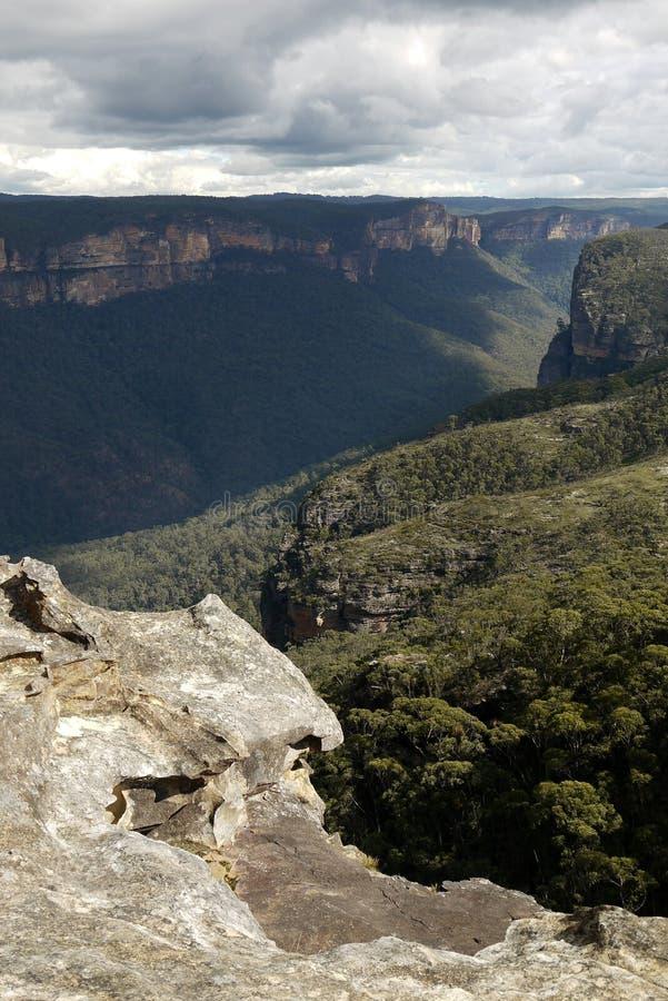 Australia: Blue Mountains view from Mount Banks stock photos