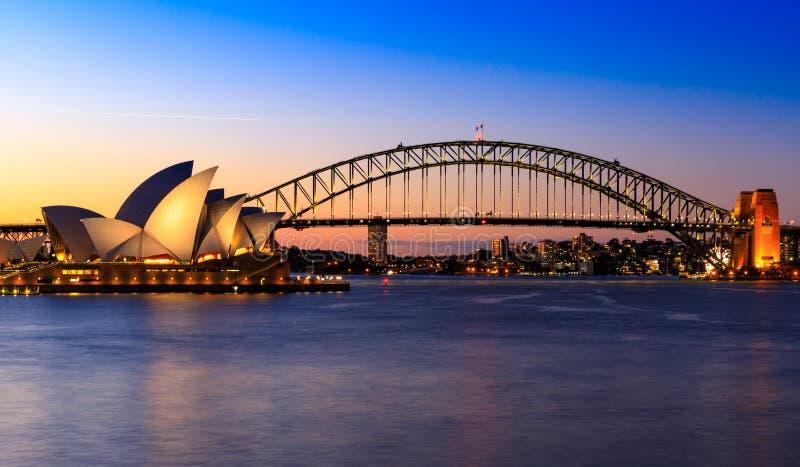 australia bridżowa schronienia domu opera Sydney obrazy stock