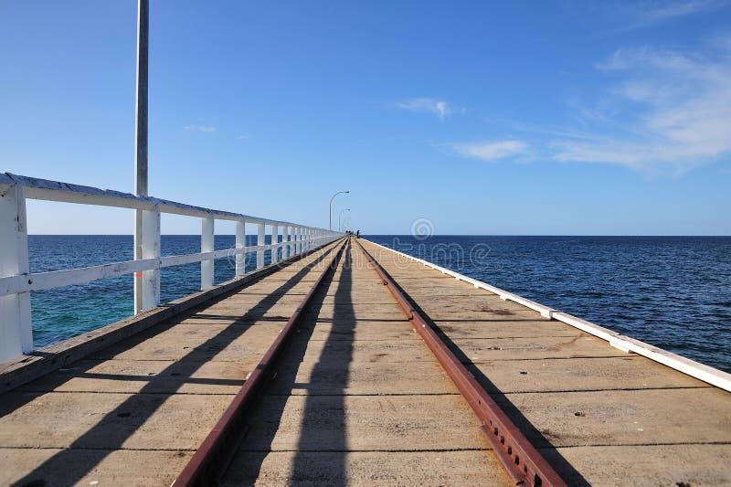 australia busselton jetty fotografia stock