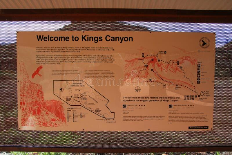australia canyon parku narodowego watarrka królów obraz stock