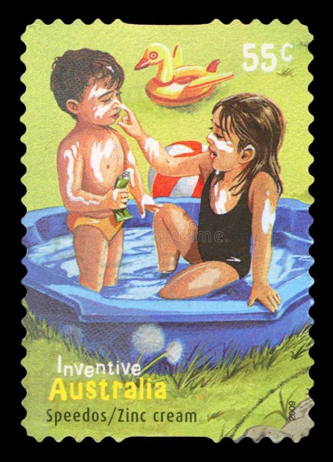 AUSTRALIA - Postage stamp stock image