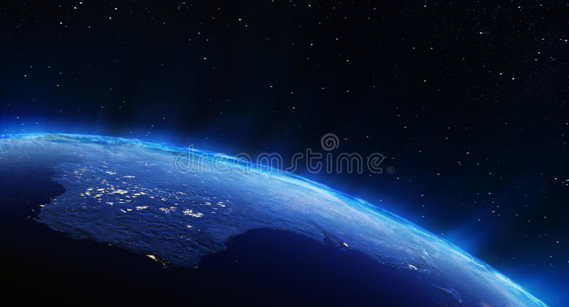 Australia City Lights Stock Illustration