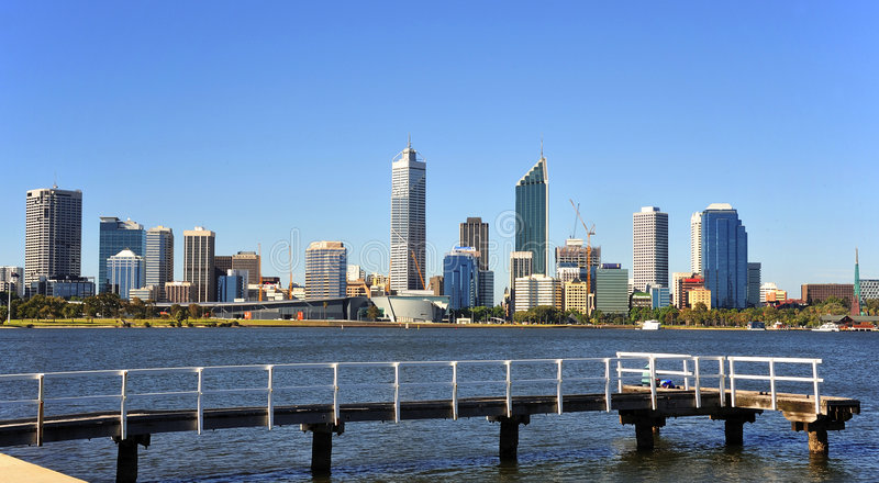 Download Australia City Of Perth Panoramic View Stock Photo - Image: 7466108