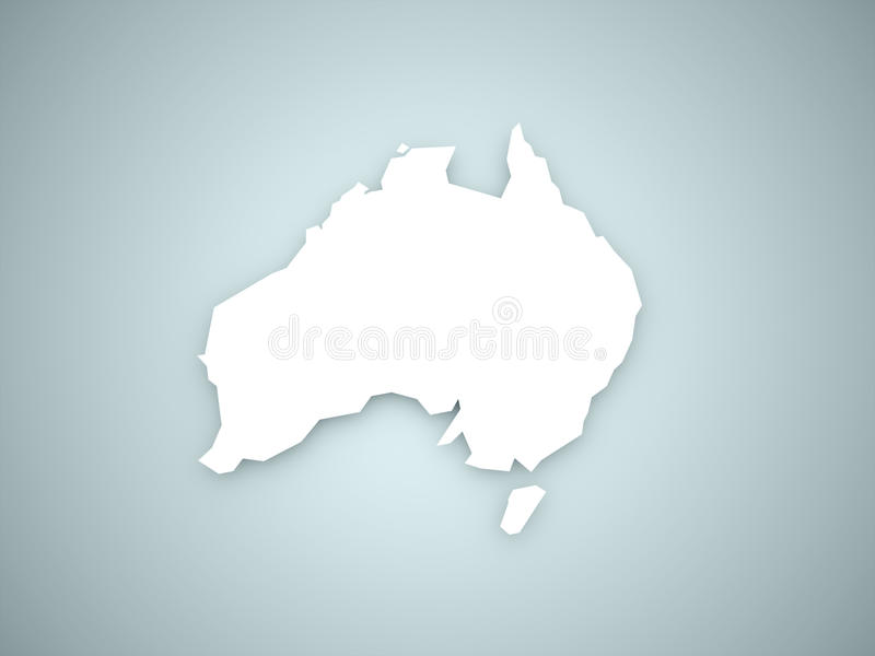Download Australia Continent On Blue Stock Photo - Image: 31162850