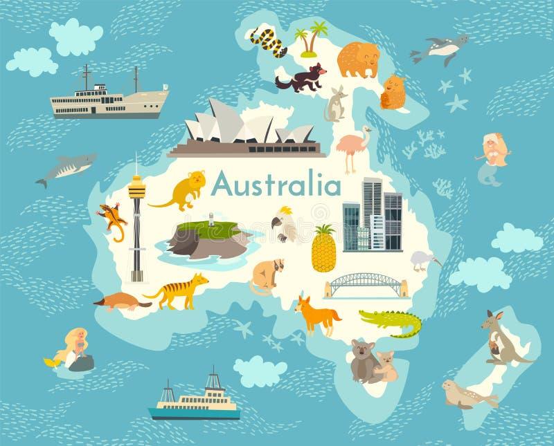 Map Of Australia Landmarks.Australia Landmarks Stock Illustrations 657 Australia Landmarks