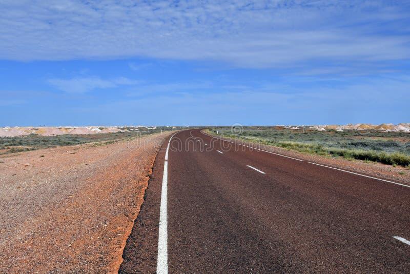 Australia, Coober Pedy, Stuart highway royalty free stock images
