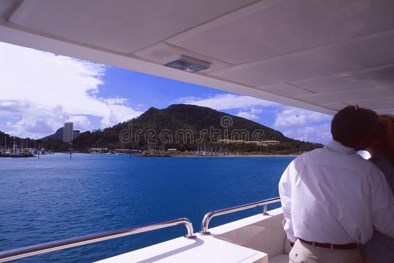 Australia: Cruising in the White Sunday Islands in the Great Barrier Reef royalty free stock image