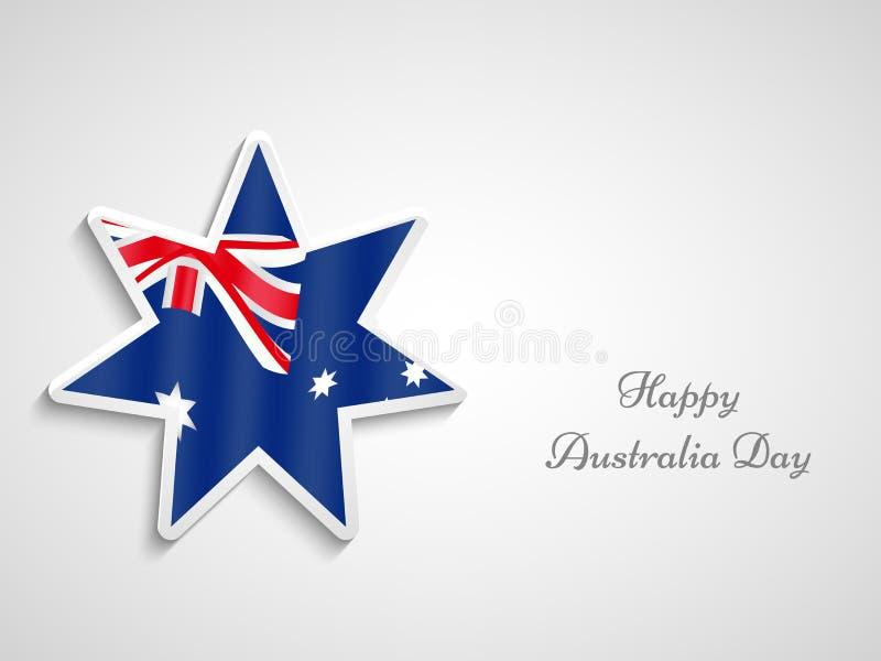 Australia Day background. Illustration of Australia Flag for Australia Day vector illustration