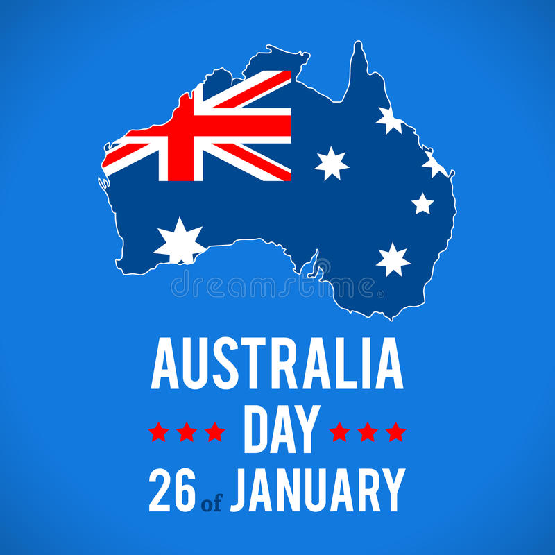 Australia Day Background. stock illustration