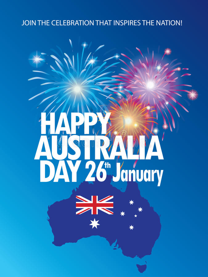 Download Australia day stock vector. Image of 26th, 2017, backdrop - 83774485