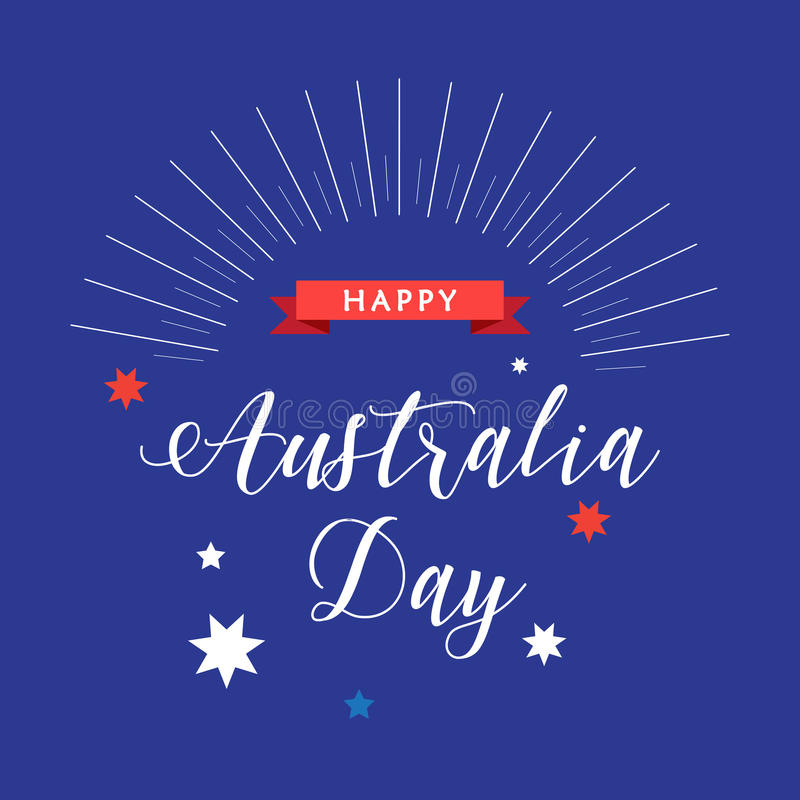 Download Australia day stock vector. Image of background, fireworks - 83568531