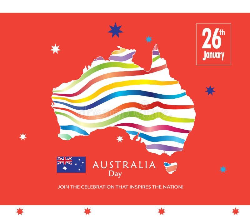 Download Australia Day stock vector. Image of democratic, calligraphy - 83810459