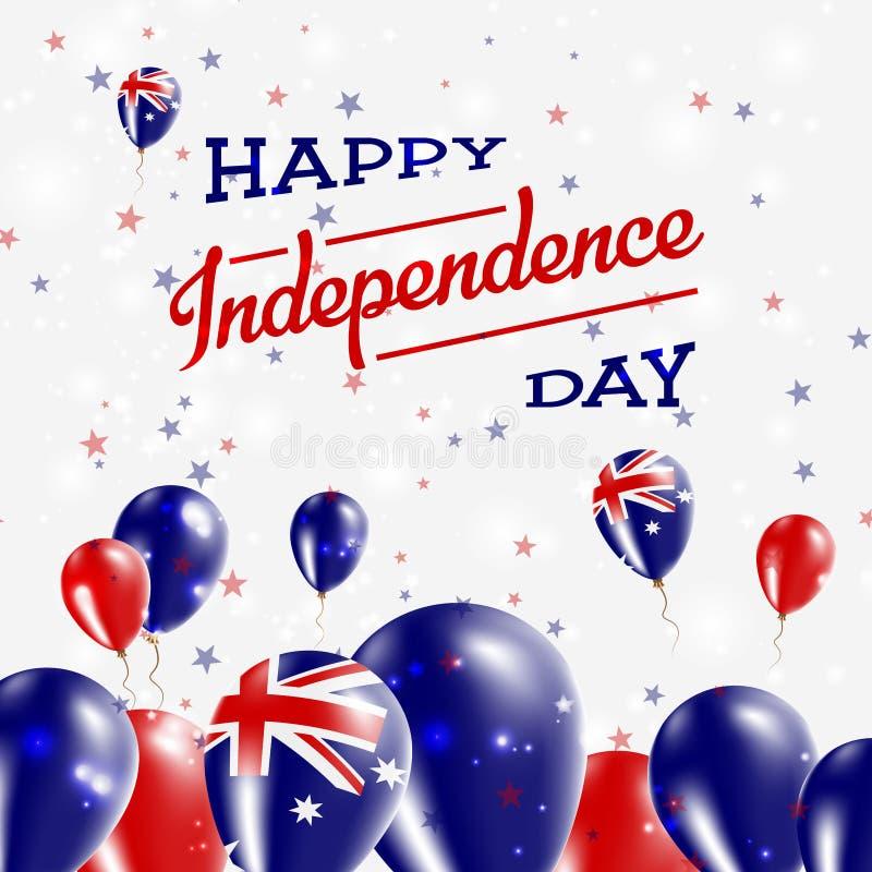 Australia dnia niepodległości Patriotyczny projekt ilustracji
