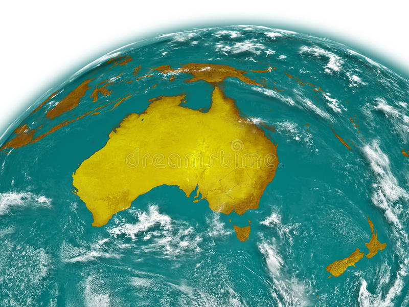 Australia On Earth Royalty Free Stock Image