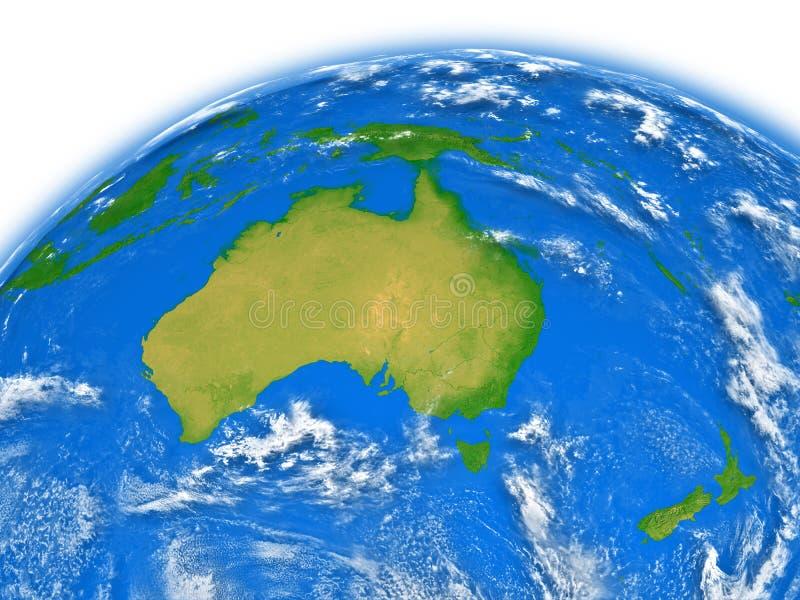 Download Australia on Earth stock illustration. Image of blue - 31729829