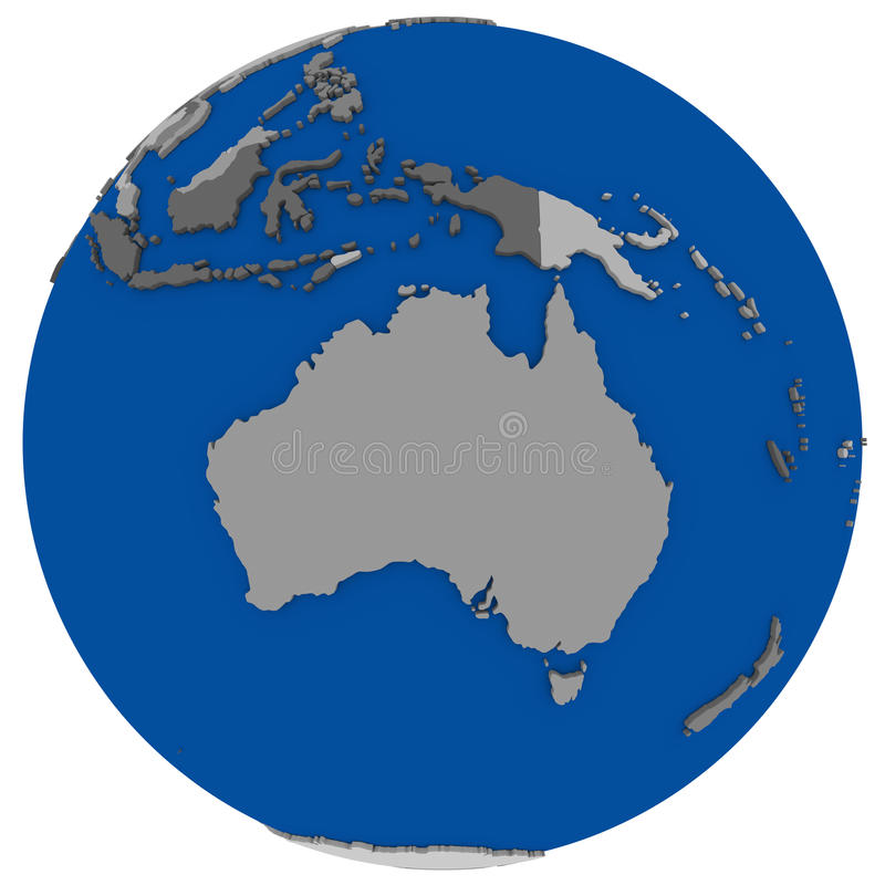 download australia on earth political map stock illustration illustration of earth white 60451006