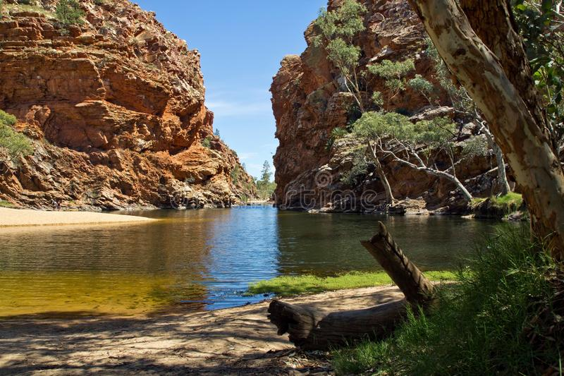 Australia, Ellery Creek Big Hole, West Mac Donnell National Park. Ellery Creek Big Hole near Alice Springs, Northern Territory, West Mac Donnell National Park stock photo