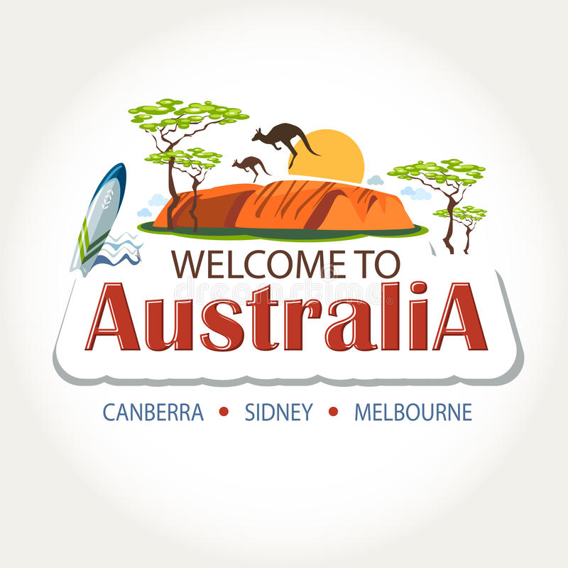 Australia features header royalty free illustration