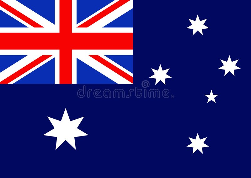 Australia Flag stock illustration