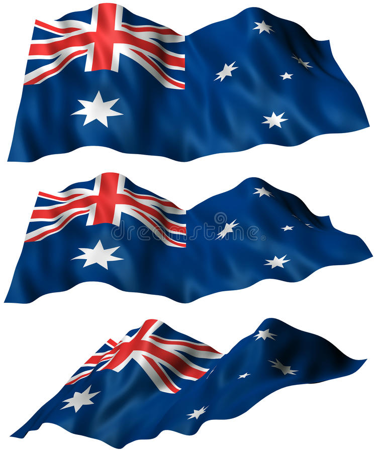 Download Australia Flag stock illustration. Illustration of fluttering - 32822655