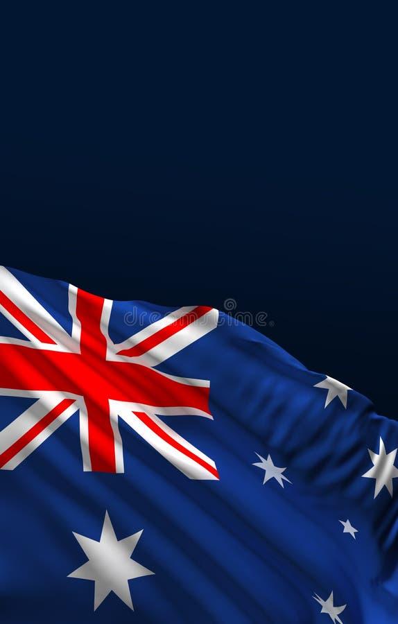 Australia flag, Australian colors, 3d rendering, vector illustration