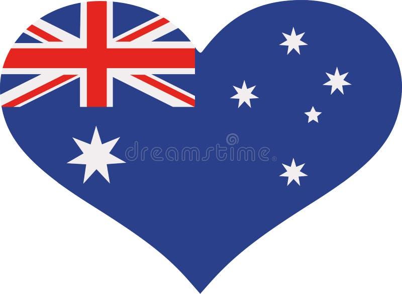 Australia flag heart vector illustration