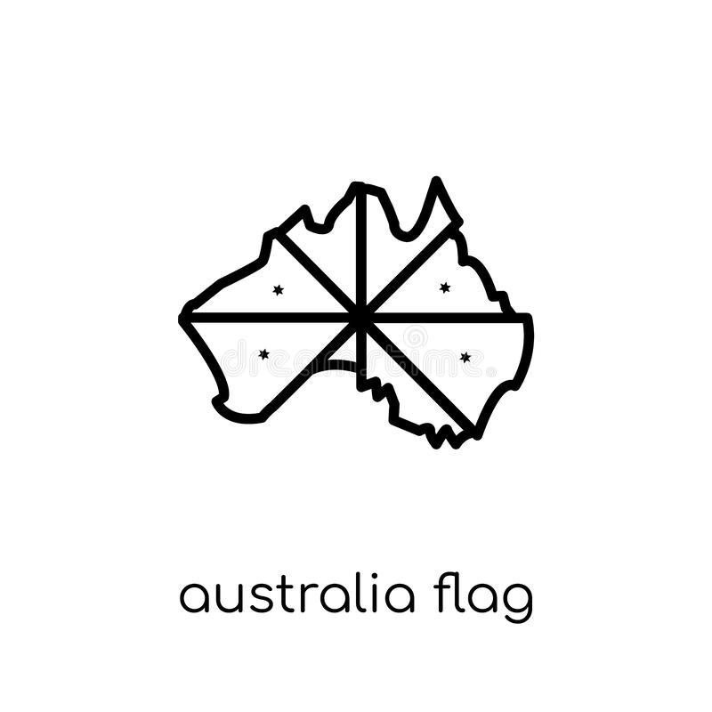 Australia flag icon. Trendy modern flat linear vector Australia stock illustration