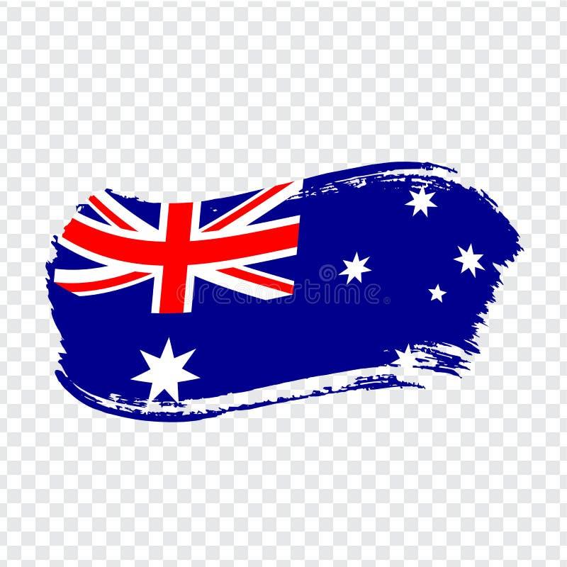 Free Australia Flag Isolated. Flag Of Australian Union, Brush Stroke Background. Flag Australia On Transparent Background. Flag Austral Stock Photo - 155641380
