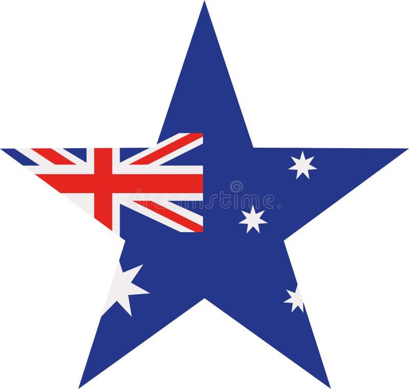 Australia flag star stock illustration