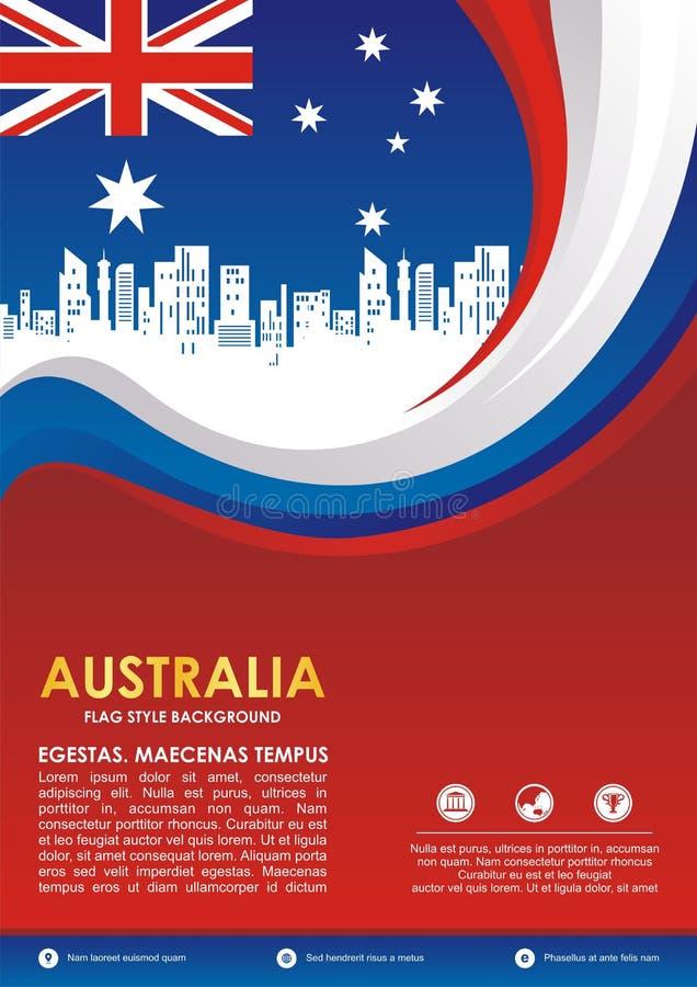 Australia flag style flyer, with stylish waving design vector illustration