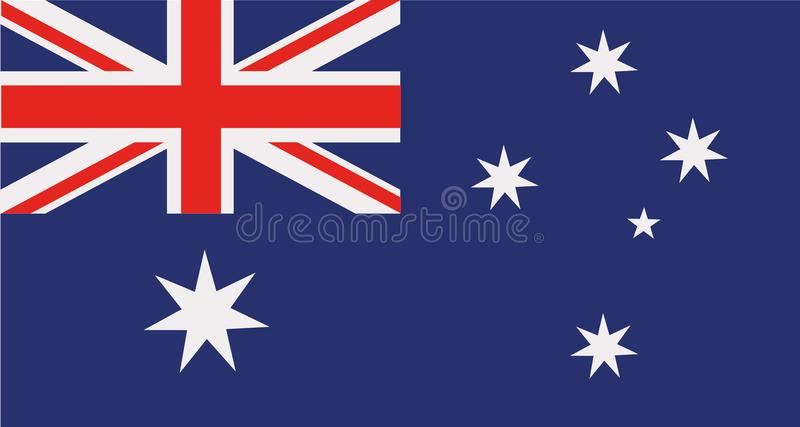 Australia flag vector stock photos