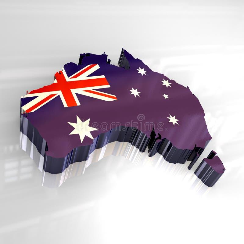 Australia flagi mapy 3 d ilustracji