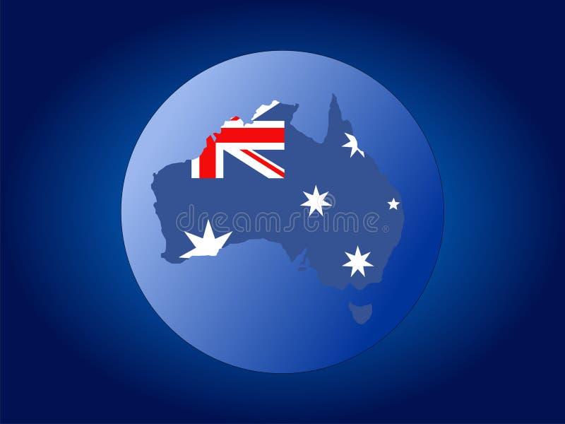 australia flagi mapy kuli royalty ilustracja