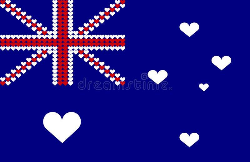 australia flagi serce ilustracja wektor